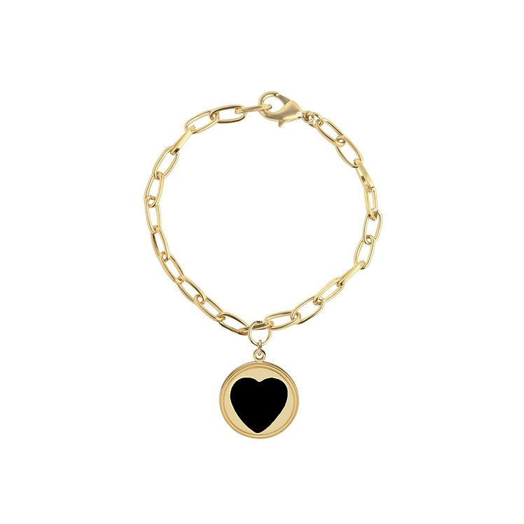 WILHEMINA GARCIA - Black Heart Bracelet