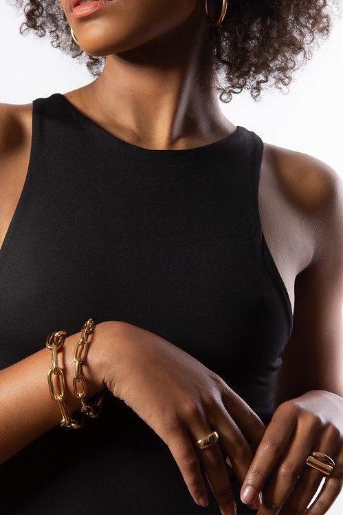 TILLY SVEAAS - Small Gold Oval Linked Bracelet