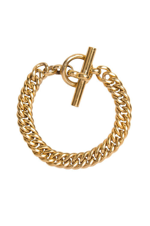 TILLY SVEAAS - Slim Gold Curb Link Bracelet
