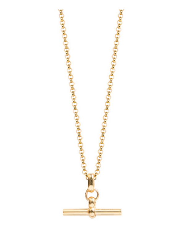 TILLY SVEAAS - Gold T-Bar Necklace