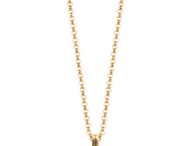 TILLY SVEAAS - Gold T-Bar Necklace