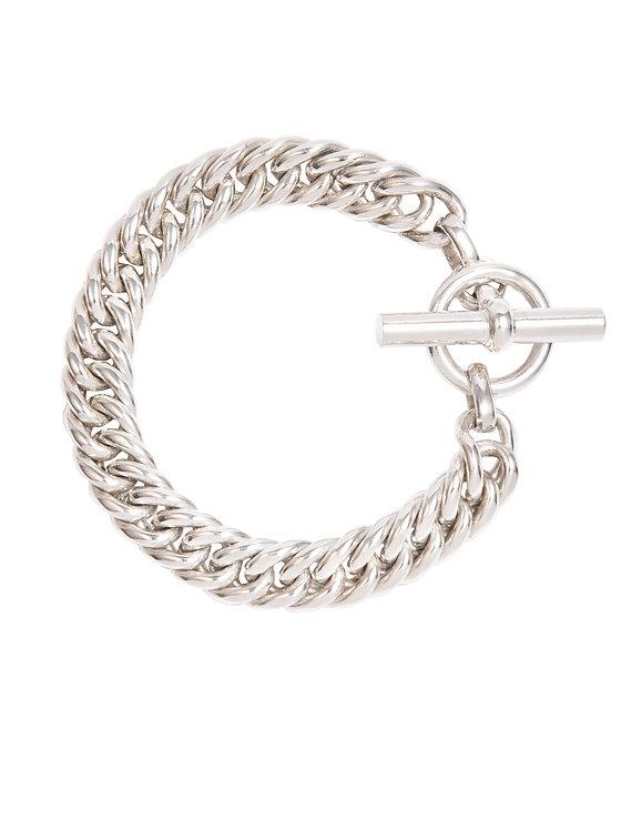 TILLY SVEAAS - Slim Silver Curb Link Bracelet