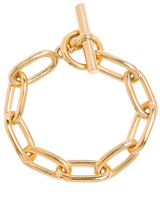 TILLY SVEAAS - Medium Gold Oval Linked Bracelet