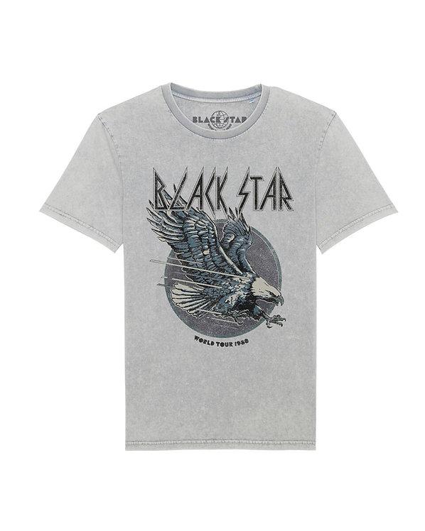 BLACK STAR WORLD TOUR 1980 - Light Grey Eagle Tee