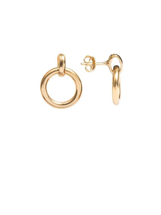 TILLY SVEAAS - Gold Eternity Stud Earrings