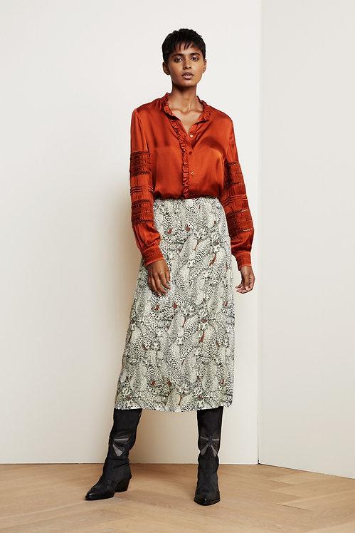 FABIENNE CHAPOT - Hall Snow Leopard Skirt