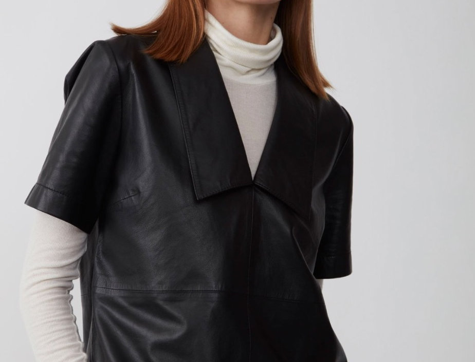 JUST FEMALE - Laurene Leather Top