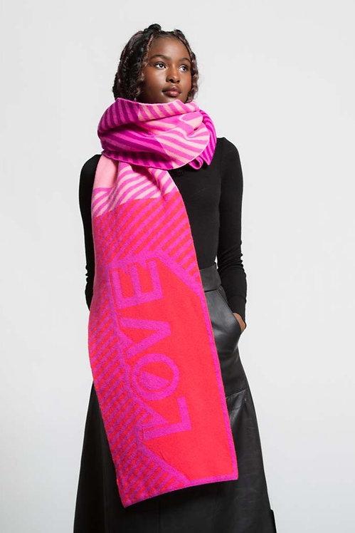 GREEN THOMAS - Pink Mix LOVE Blanket Scarf
