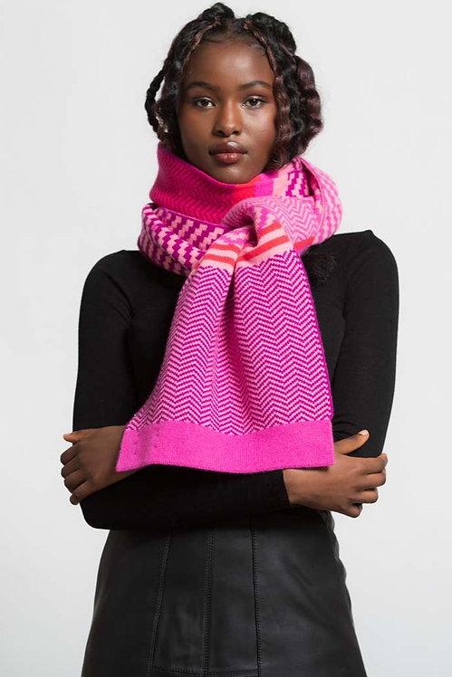 GREEN THOMAS - Pixel Pink Mix Blanket Scarf