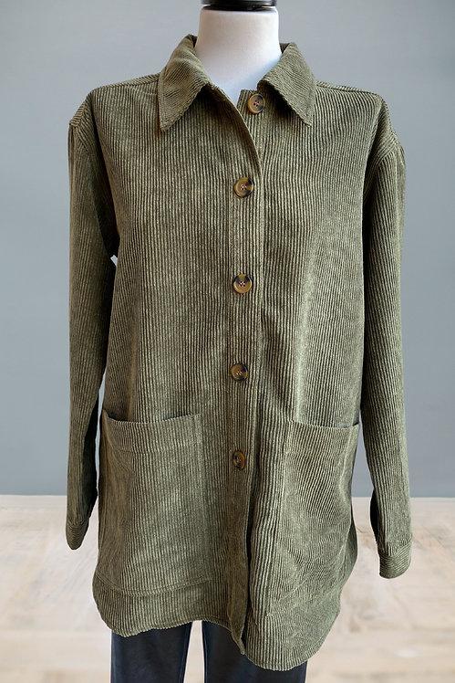 FRANSA - Cord Overshirt