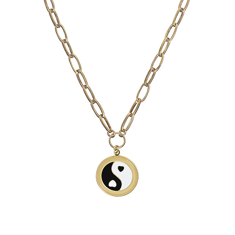 WILHEMINA GARCIA - Gold Yin Yang Necklace