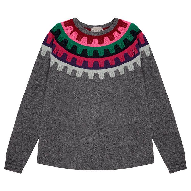 JUMPER 1234 - Rick Rack Grey Cashmere Sweater