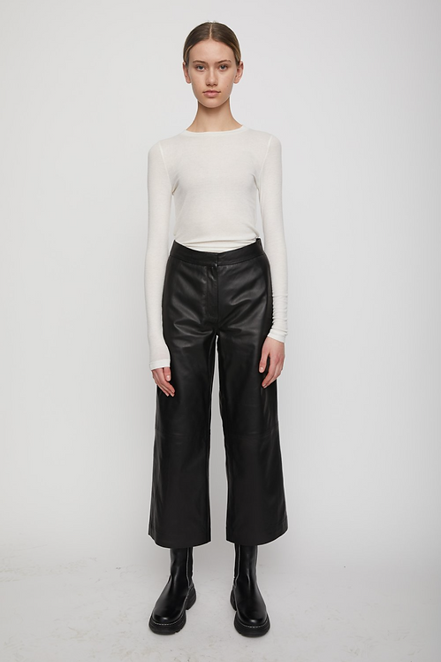 JUST FEMALE - Roxy Leather Trousers