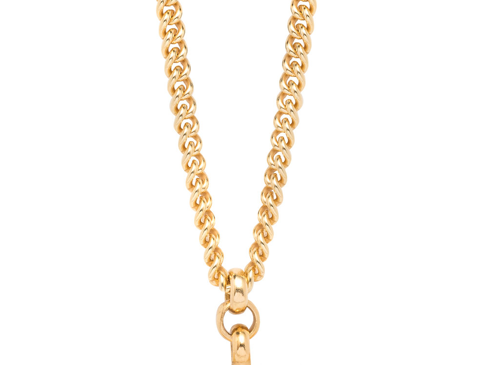TILLY SVEAAS - Gold T-Bar Link Necklace