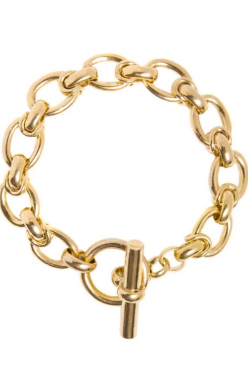 TILLY SVEAAS - Medium Gold Interlock Bracelet