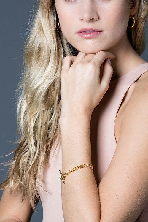 TILLY SVEAAS - Gold Curb Link Compass Bracelet
