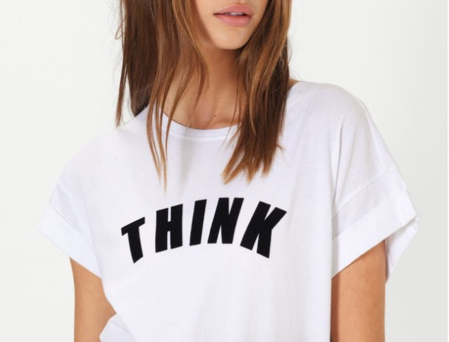 SECOND FEMALE - 'THINK' Tee