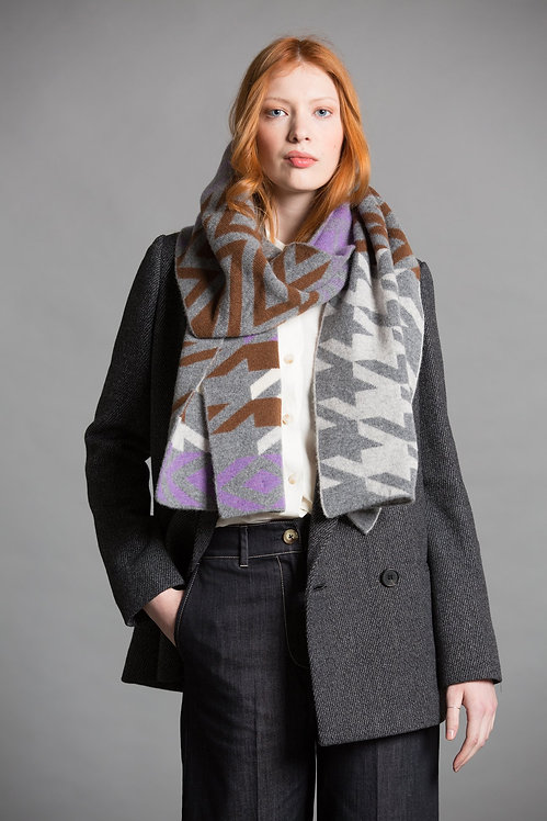 GREEN THOMAS - Houndstooth Blanket Soul Scarf