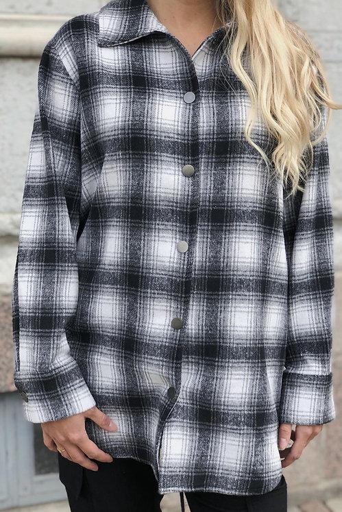 FRANSA - Check Overshirt