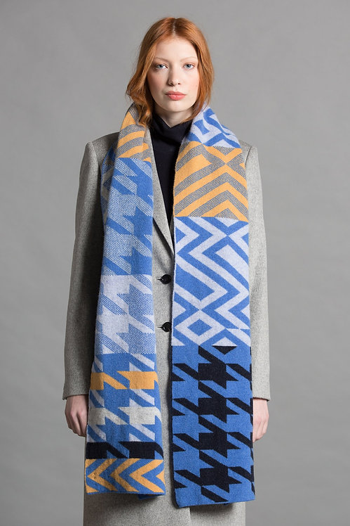 GREEN THOMAS - Houndstooth Blanket Scarf