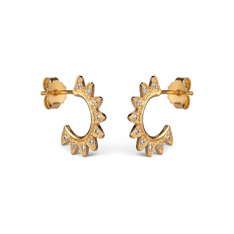 ENAMEL COPENHAGEN - Veda Sunburst Hoop Earrings