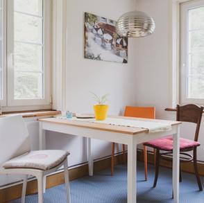Küche Meditations- und Spirituellem Zentrum Rheinschlucht.
