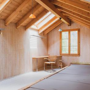 Unser kleines 6er Lager im Meditations- und Spirituellem Zentrum Rheinschlucht.JPG