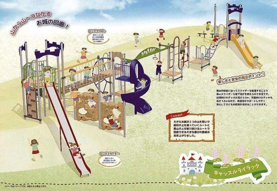 ライラック公園に設置される予定の遊具