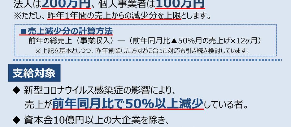 持続化給付金【新型コロナウィルス感染症対策】