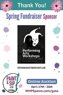 Spring Frundraiser Sponsor Performing Ar