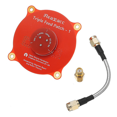 Realacc Triple Feed Patch-1 5.8GHz 9.4dBi Directional Circular Polarized Antenna
