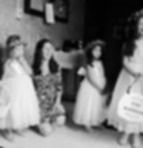 Flower girls at the weddig in New York