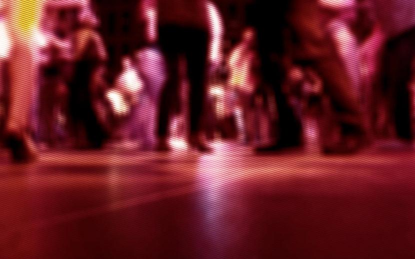 Unscharfe Tanzfläche
