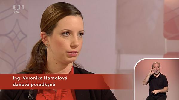 Daňová poradkyně Ing. Veronika Harnolová mluví o změnách v daňovém přiznání na ČT1