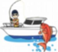 船釣りのイラスト