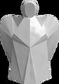 Porcelánový anděl bílý