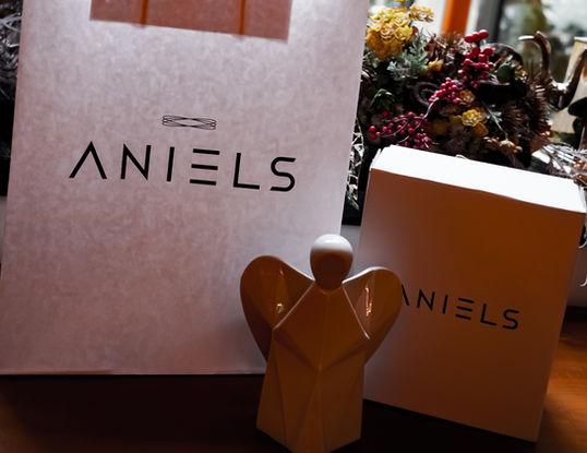 Aniels balení s krabicí a taškou