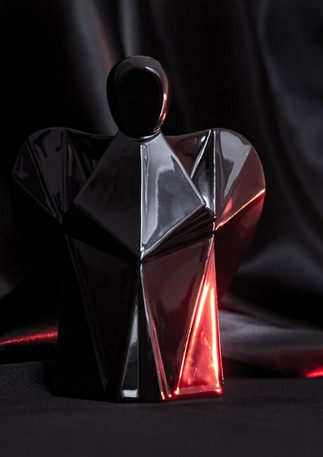 Aniels interier porcelánový andílek černý