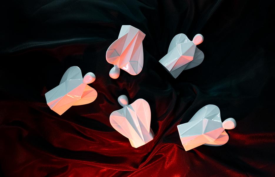 Aniels porcelánoví andělé