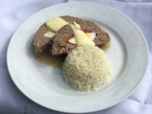 Asado aleman con salsa mostaza