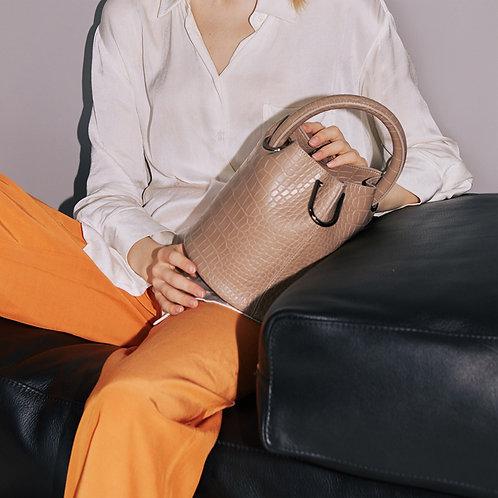 11° Hannah bag - Croc Warm gray [SAMO ONDOH]