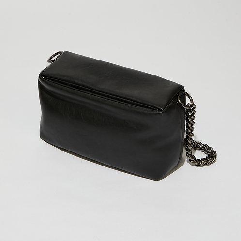 slim box bag M lambskin - black SAMO ONDOH