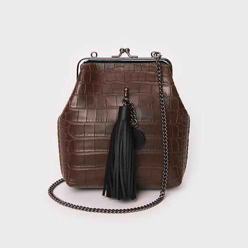 9° Mia Bag CROC BROWN - TASSEL [SAMO ONDOH]