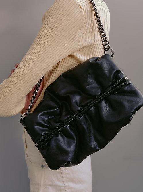Bun bag M lambskin - black SAMO ONDOH
