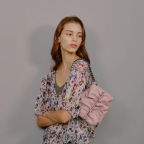 Bun bag S lambskin - pale pink SAMO ONDOH