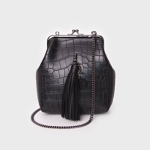 9° Mia Bag CROC BLACK - TASSEL [SAMO ONDOH]