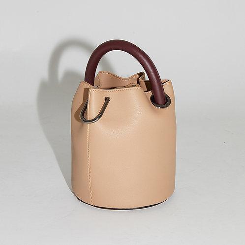 20° Hannah bag - Beige with Wine handle [SAMO ONDOH]