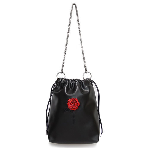 33° Nina bag BLACK - BLACK ROSE [SAMO ONDOH]