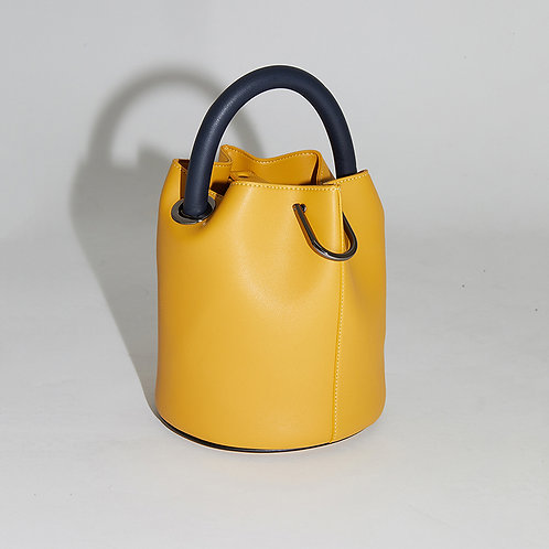 20° Hannah bag - Yellow with Navy handle [SAMO ONDOH]