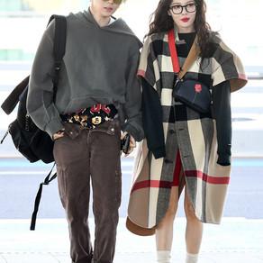 Hyuna & Hyojong Airport fashion